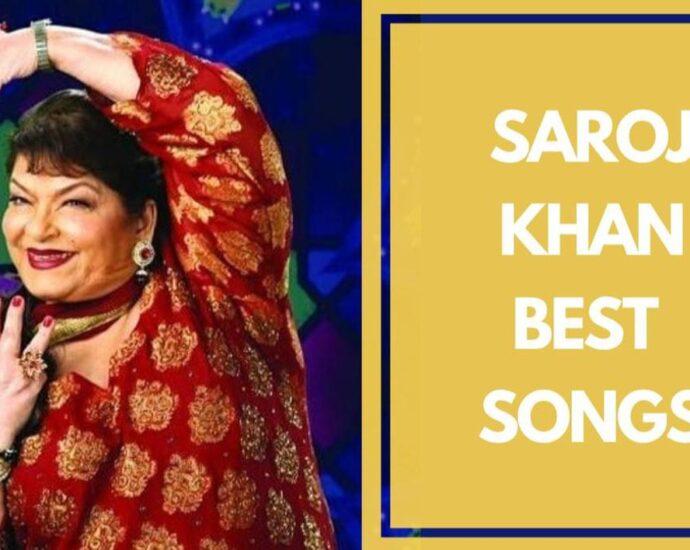 "Top ten ""Bollywood songs"" choreographed by Saroj Khan"