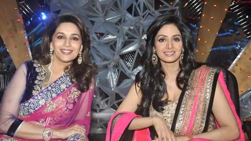 Late Sridevi and Madhuri Dixit