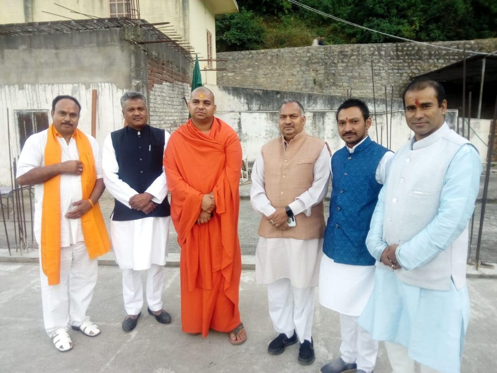 Vishwamitragiri Nand Maharaj and Jitendra Dalal and Shailesh Minister Panchkula