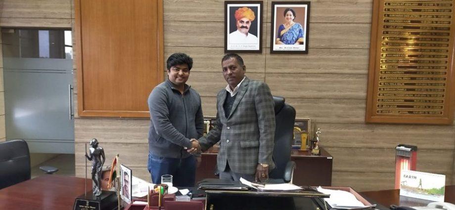 Snehil meeting Mayor Chandigarh