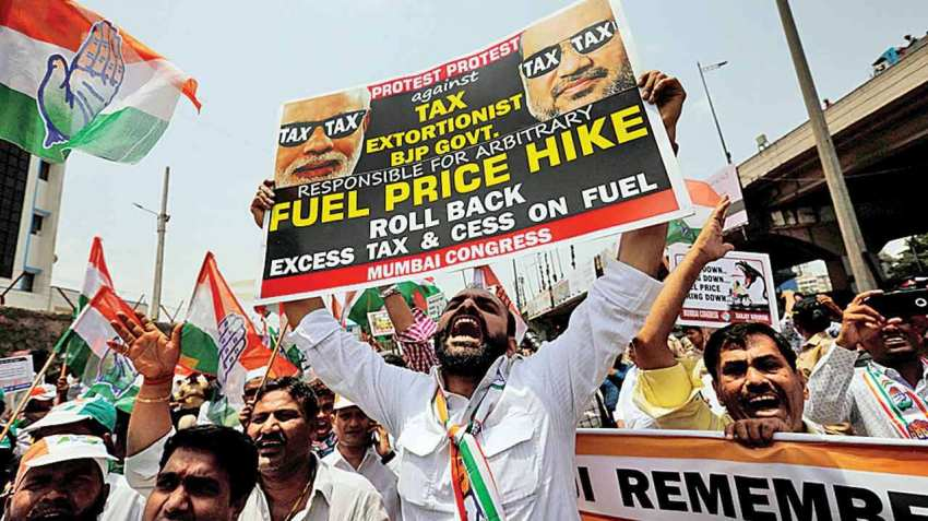 Opposition blaming Modi Government for rising Petrol and diesel prices