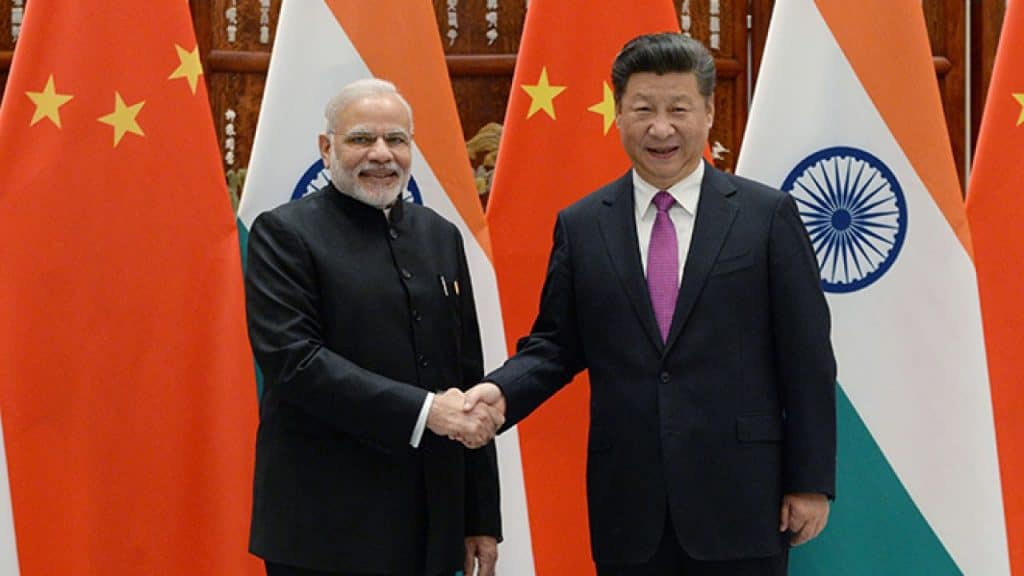 Heads of Indian and China