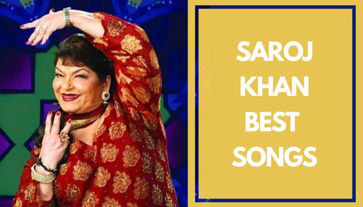 "Top ten ""Bollywood songs"" choreographed by Saroj Khan"