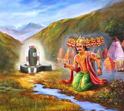 Ravan and Lord Shiva