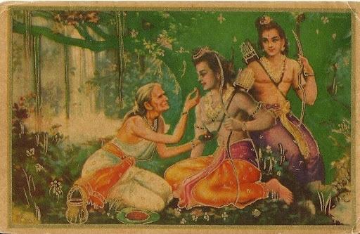 Lord Rama and Shabri