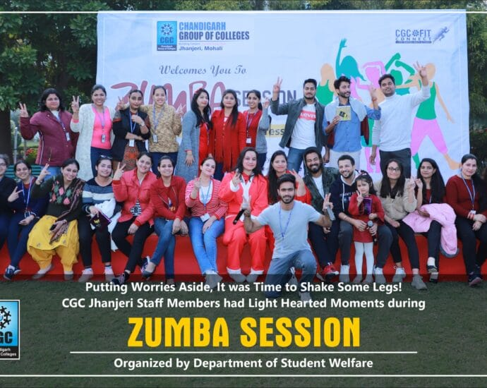 CGC Jhanjeri in Association with Athelonics Hybrid Gym Organized Zumba Session for Staff Members