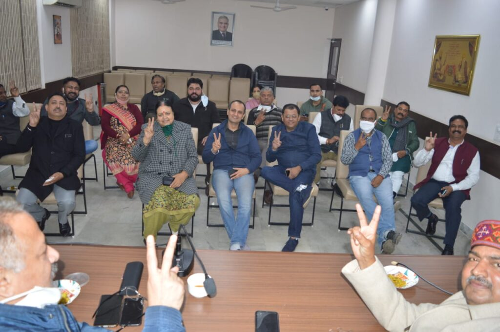 Bjp chd party meeting for mc elections